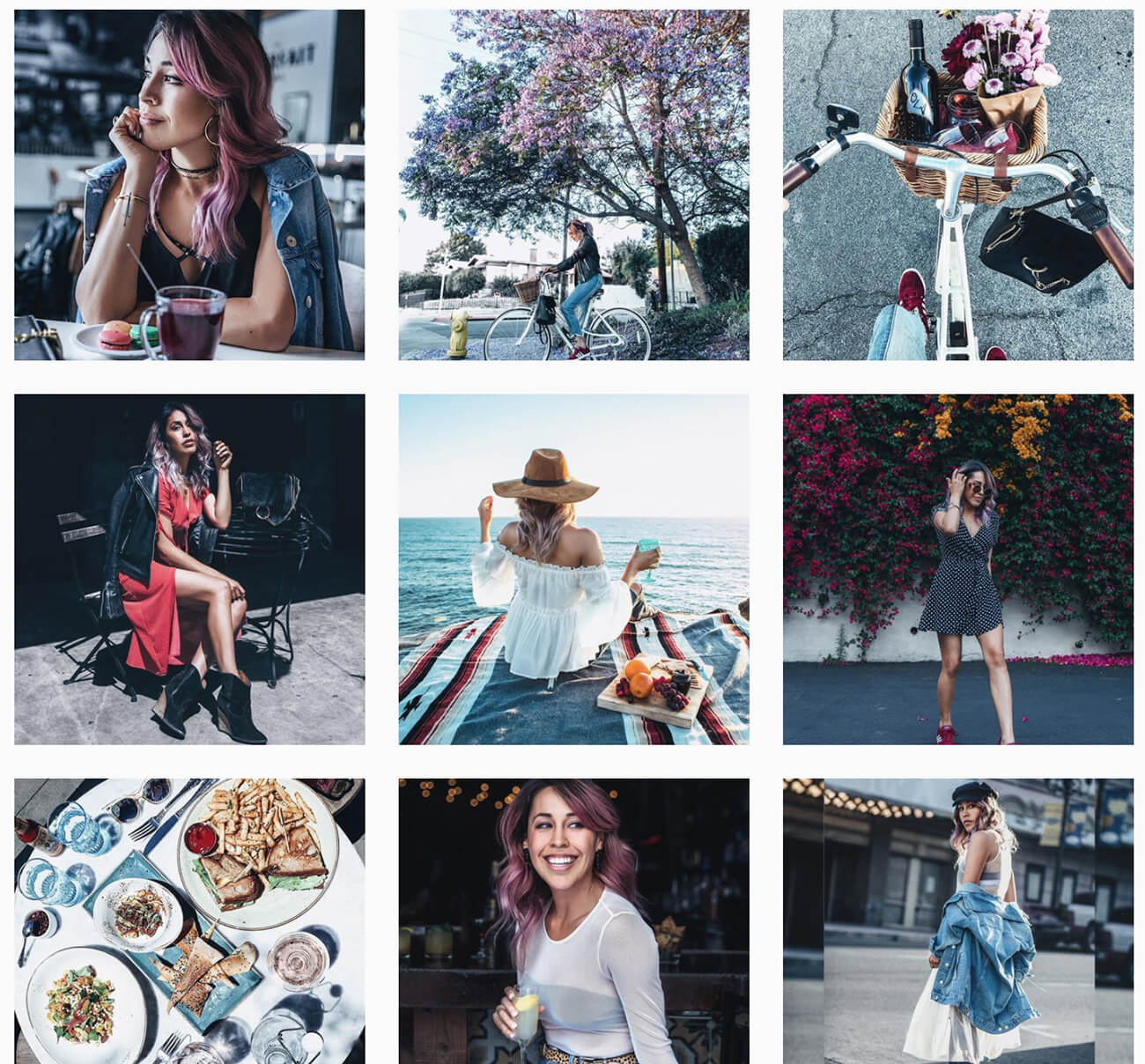 examples for organizing an Instagram aesthetic
